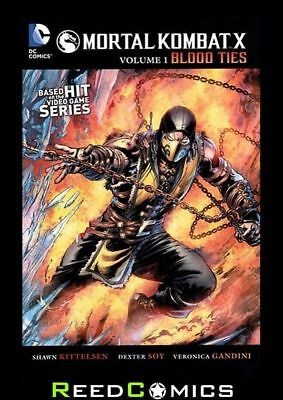 MORTAL KOMBAT X VOLUME 1 BLOOD TIES GRAPHIC NOVEL Paperback Collects Issues #1-4