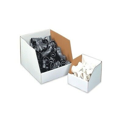 """Jumbo Open Top Bin Boxes, 12""""x18""""x10"""", White, 25/Bundle"""