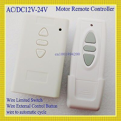 AC/DC 12V 24V 36V 2 CH Remote Control Switch motor forward reverse UP Down Stop