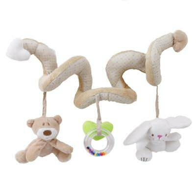 New! Baby Newborn Activity Spiral Cot Toy Animals Rattle Pram/Car Seat/Stroller