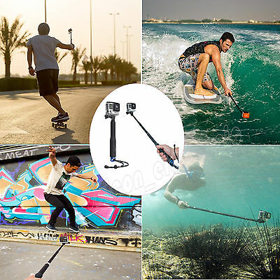 Selfie Pole Extendable Telescopic Monopod Stick for GoPro Hero 4 3+3 2 Camera