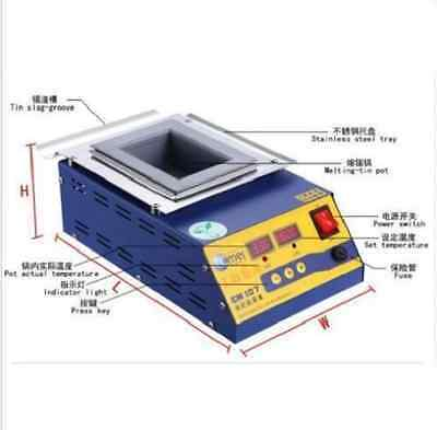 Digital Preheating Soldering Pot / Preheat Station Square Tin Pot 900W CM-150s
