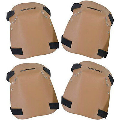 2x Pair Leather Knee Pads Padded Protective Work Wear Safety Gear Kit One Size