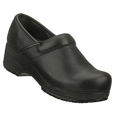 76501 Skechers Women's Work: Tone-ups CLOGS Slip Resistant Leather Black