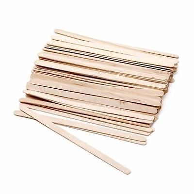 Caron Disposable Wooden Spatula Brow Beaters 500 Pack Wax Waxing Sticks