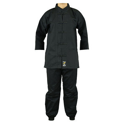 Playwell Kung Fu Uniform Black Gi Adults Martial Arts Suits Tai Chi Outfit