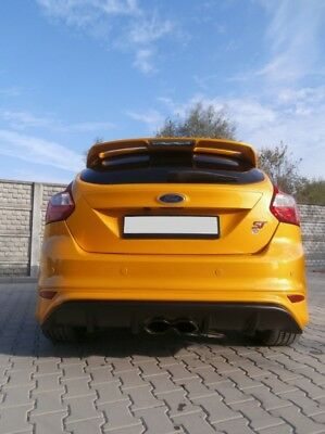 Rear Diffuser Valance Rs'15 Look - Ford Focus 3 St Pre-Face+ Reflective Lights
