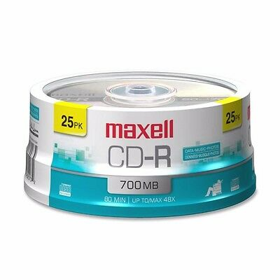 NEW Maxell Recordable Cd48x25 Spindle 48x25 Spindle 648445