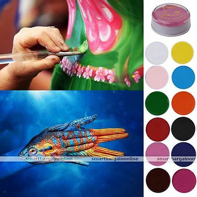12 Colors Face Body Party Cosplay Painting Oil Art Stage Make Up Set Kit 35g
