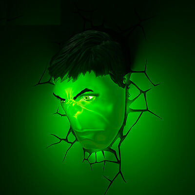 3D Deco Led Night Light Hulk Mask + 3D Huld Fist Wall Mounted Design NEW