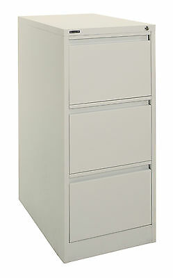 NEW Brownbuilt FP Vertical Filing Cabinet 3 Drawer Silver Grey Un-assembled