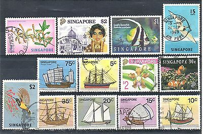 SINGAPORE = New selection of FINE USED stamps. (04.11.a)