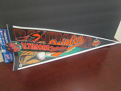 6342d178c Mlb- Baltimore Orioles Logo Pennant 90 S Complete W  Button And Sticker  12X30