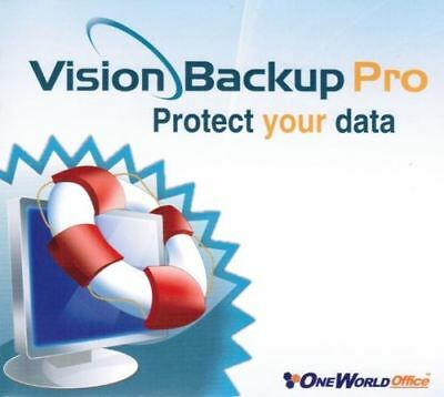 Vision Backup Pro - Protect Data Advanced Scheduling Restore Devices PC NEW