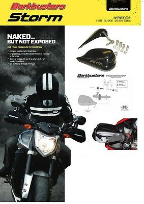 Barkbusters Storm S5 Hand Guards Black Suzuki Gw250 Inazuma Model