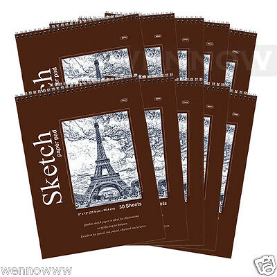 10pcs/Lot 30 CT Sheets 9 x 12 inches Premium Quality Sketches Pad Drawing Book