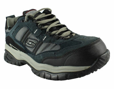 """77013 Skechers SOFT STRIDE-GRINNELL """"Safety shoe"""" Men's Shoes NAVY/GRAY  NVGY"""