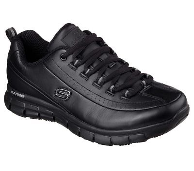 76550 Skechers Women's Work: Sure Track-Trickel Slip Resistant Memory Foam Black