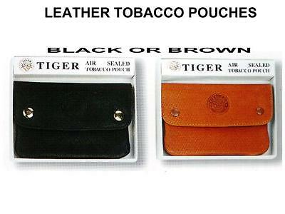 Genuine Leather Cigarette Tobacco Pouch Bag Tiger great quality  free lighter.
