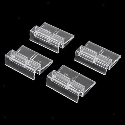 4x Aquarium Fish Tank Plastic Clips Glass Cover Strong Support Holders 10mm