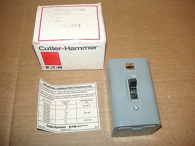 New Cutler Hammer Manual Starter 9101H75 2 pole 1 Phase. New Old Stock. EATON