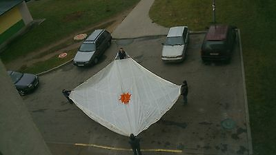 Soviet Russian army parachute awning Z-5 white  26' CANOPY WEDDING PARTY TENT