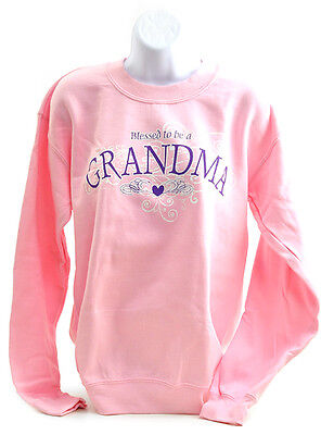 Blessed To Be A Grandma, Crewneck Sweatshirt, Large (42--44)