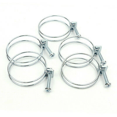 Big Horn 11725PK 2-1/2-Inch Wire Hose Clamp 5-Pack for dust collection