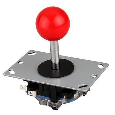 Joystick Fighting Stick Red Ball 8 Way Part Replacement for Video Games Arcade