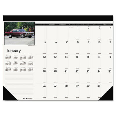House of Doolittle Classic Car Photographic Monthly Desk Pad Calendar 22x17 2016
