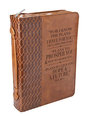 For I Know the Plans, Bible Cover, Brown, Medium
