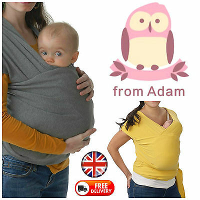 Baby Sling Stretchy Wrap Carrier Breastfeeding Newborn Birth - 3 Yrs Toddler Uk