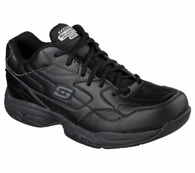77032 Skechers Men's FELTON-ALTAIR Work Shoes Non Slip Black Unisex