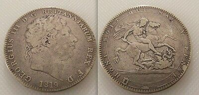 Collectable Silver 1819 - King George III - Crown coin, George & Dragon