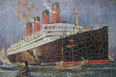 Cunard Line Rms Aquitania New York Odin Rosenvinge Huge Chad Valley 20's Jigsaw