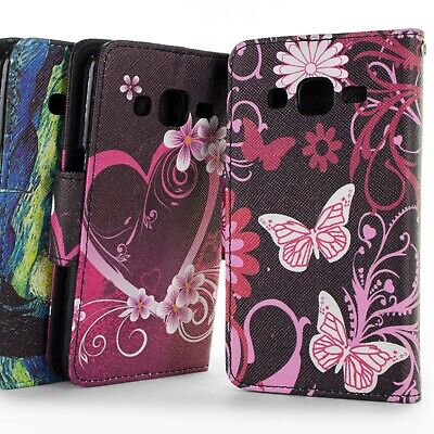 For Samsung Galaxy J2 Wallet Case - Flip Stand Credit Card & Cash Pouch Cover
