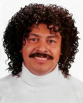 80's Jerry Jheri Curl Curly Afro PIMP WIG Costume Black