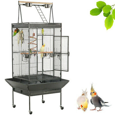 """68"""" Bird Cage Large Play Top Parrot Finch Cage Macaw Cockatoo Pet Supply"""