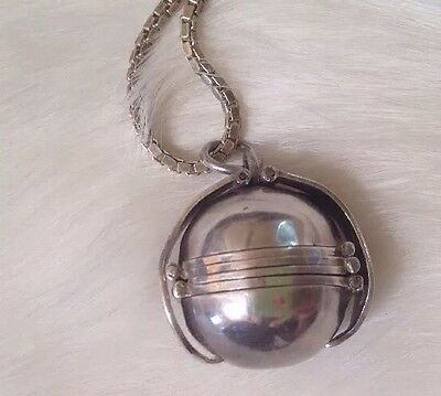 Rare Vintage Sterling Silver Taxco Locket.