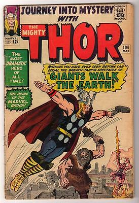Marvel Comics  VG- 3.5  THOR #104  Journey into mystery  KIRBY