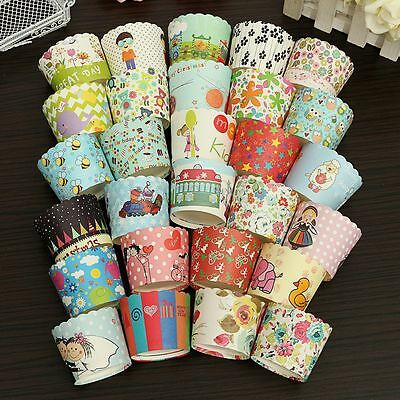 50X Xmas Paper Cake Cup Cupcake Cases Liners Muffin Baking Party