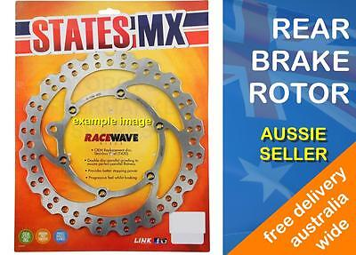 REAR BRAKE DISC ROTOR WAVE TYPE for YAMAHA YZ250F 2001 to 2016 YZ250FX 2015 2016