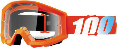 100 Motocross Offroad Strata MX Goggles Orange / Clear Lens 50400-006-02 Ktm
