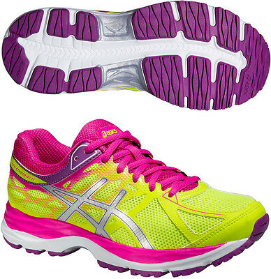 Asics Gel Cumulus 17 GS Junior Running Sports Fitness Trainers Shoes Yellow