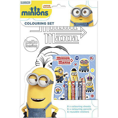 Despicable Me Minions - Hello London - COLOURING SET : WH3 : 384 : NEW