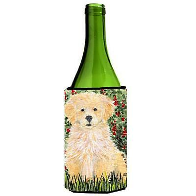 Carolines Treasures SS8857LITERK Golden Retriever Wine Bottle Hugger