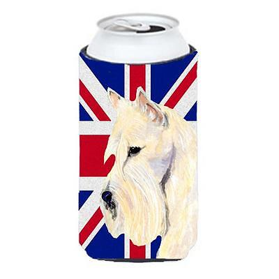 Scottish Terrier Wheaten With English Union Jack British Flag Tall Boy bottle...