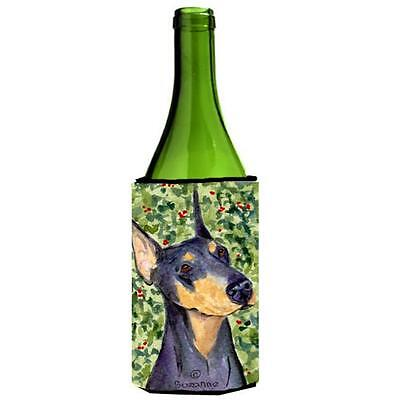 Carolines Treasures SS8812LITERK Doberman Wine bottle sleeve Hugger 24 Oz.