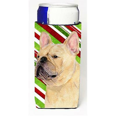 French Bulldog Candy Cane Holiday Christmas Michelob Ultra s For Slim Cans 12...