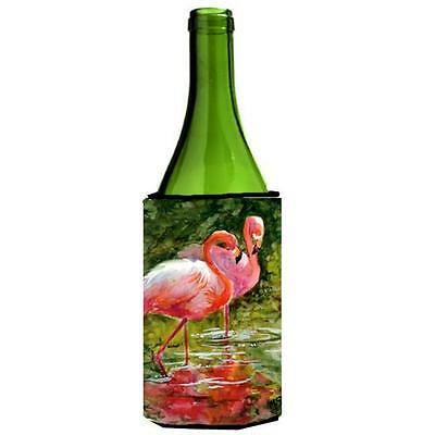 Carolines Treasures MM6030LITERK Bird Flamingo Wine bottle sleeve Hugger 24 oz.